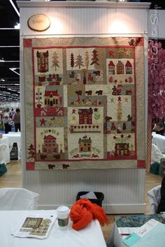 A Woodland Christmas Block of the Month by Bunny Hill Designs spotted at Spring Quilt Market!