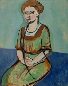 "art-of-darkness: ""Henri Matisse — Portrait of Olga Merson, Painting: Oil on canvas, x cm. Museum of Fine Arts, Houston, Texas. Fine Art, Painter, Fauvist, Matisse Art, Museum Of Fine Arts, Artist, Painting, Portrait, Art History"