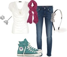 love this simple/chic look!, created by flindy21 on Polyvore