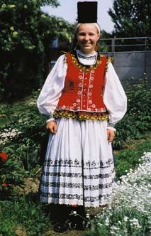Konfirmandin in Jaader Tracht. 1987 (Archiv Sedler)