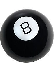 """Original Magic 8 Ball—Predicting Fun for Over 60 YearsWondering if this is going to be the best Christmas yet? According to the Magic 8 Ball, """"It is decidedly so."""" This classic fortune-teller has the same original timeless design, complete with the shiny black exterior and soothsayer's window on the bottom, and the same mysterious """"fortunes."""" And it's as entertaining as ever. $14.95"""