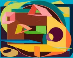 Al Held / found on www.kunzt.gallery / Scholes II, 1991 / Screenprint