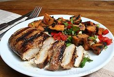 With a limited but tasty blend of ingredients, the marinade for this excellent grilled chicken recipe produces chicken that is ultra-tender and packed with flavor. Serve it with grilled asparagus and sweet potatoes for a complete meal. Jerk Chicken Marinade, Chicken Marinades, Marinated Chicken, Chicken Recipes, Grilled Chicken, Lunch Recipes, Wine Recipes, Healthy Recipes, Yummy Recipes
