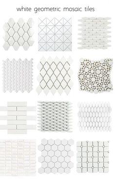 white-geometric-tiles backsplash Alternatives to White Subway Tile Room Tiles, Kitchen Tiles, Kitchen Flooring, Design Kitchen, Kitchen Decor, Kitchen Interior, Wall Tiles, White Kitchen Backsplash, Travertine Backsplash