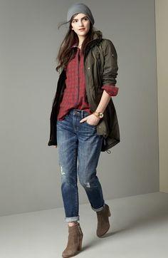 MICHAEL Michael Kors Detachable Hood Stand Collar Jacket (Regular & Petite)