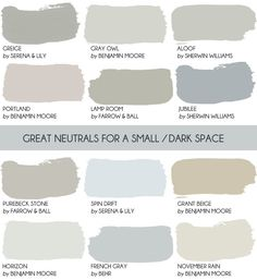 Before you paint a small room white read this article where Emily Henderson shares why a neutral c&; Before you paint a small room white read this article where Emily Henderson shares why a neutral c&; New Swedish Design, White Rooms, Dark Rooms, Farrow Ball, Farrow And Ball Paint, Farrow And Ball Bedroom, My New Room, House Painting, Painting Walls