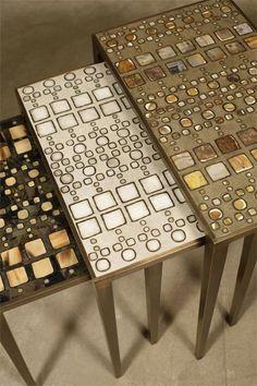 R Augousti Nesting Tables Furniture Update, Funky Furniture, Table Furniture, Home Furniture, Mosaic Furniture, Nesting Tables, Art Deco Design, Unique Home Decor, Interior Inspiration