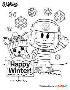 Happy Summer from Julius Jr. and friends! Print and color