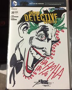 Thanks George for this wonderful Joker sketch at Long Beach Comic Expo. #theverybestoffriends #joker #lbce2017 #lbce #longbeachcomicexpo #georgeperez #detectivecomics #convention #sketch #conventionsketch #sketch #sketches #art #artist @longbeach_cc #sketchblank #blank #hahaha #batman #dccomics
