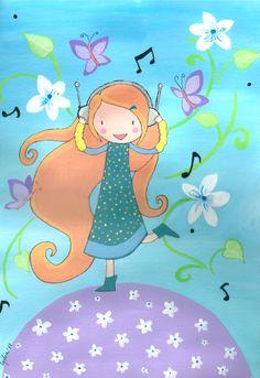 Ilustración personalizada Música en el Aire