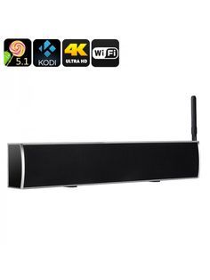 Android TV Box and sound-bar, video support, Kodi pre installed, for access to terrestrial TV channels Internet Bar, Home Internet, Kevin Spacey Movies, Dvb T2, Best Speakers, Tv Channels, Audio System, Tv Videos, Quad