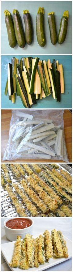 Baked Zucchini Fries - Erin Easy Recipes Could be another healthy side that i could convice zachary to eat :)