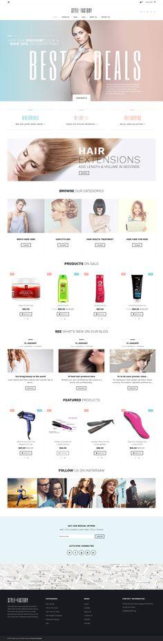 Hair Styling Responsive Shopify Template http://ecommerce.jrstudioweb.com/