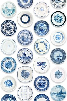Porcelain Plates - Wallpaper Ideas & Designs - Living Room & Bedroom (houseandgarden.co.uk)