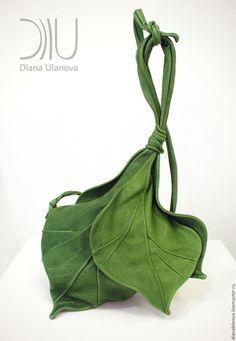 Купить Бутон зеленый - зеленый, однотонный, зеленая сумка, бохо-стиль, бохо-шик