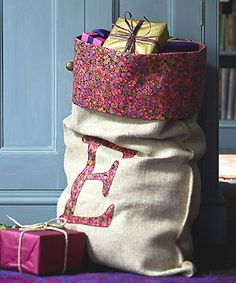 rustic Santa sack to make - Free Christmas stocking patterns - Christmas craft - allaboutyou.com