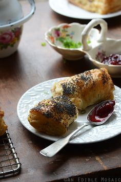 Savory Camembert Turnovers with Honey-Roasted Turkey and Lingonberry Jam Recipe (super easy to make!)