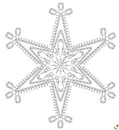 crochet pattern - star snowflake hexagon six points chart / diagramgwiazdka na Stylowi.We knit a snowflake with a hook – picking … Snowflake … – Snowflakes World Crochet Diagram, Crochet Motif, Crochet Designs, Crochet Doilies, Crochet Flowers, Diy Crochet, Crochet Snowflake Pattern, Christmas Crochet Patterns, Crochet Snowflakes