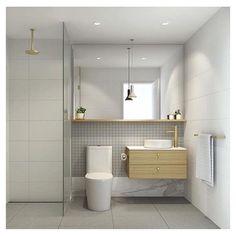 Bathroom Inspiration // Brass detail, subtle but timeless ☝️Designed by Adele Bate Design @adelebatesdesign