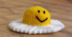 The pattern is for free. Happy Fried Egg would be a great gift for your kids or grandkids or just something to knit in between bigger proj...