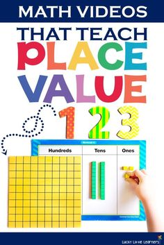 This is a great collection of math videos that help to teach our students place value. They can be a great introductory video to enrich the lesson or even watched prior to math centers or guided math time. Teaching Place Values, Teaching Math, Teaching Ideas, Teaching Spanish, Math Resources, Math Activities, Math Games, Math Songs, Place Value Activities