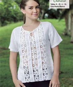 blusa-clarena Kurta Designs, Blouse Designs, Dress Shirts For Women, Blouses For Women, Blouse Models, Clothes Crafts, Couture, Blouse Dress, Women's Summer Fashion