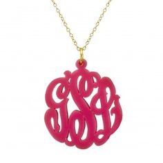 """Acrylic Cut Out - Pink - *For sizes of Pendants, you choose from the drop down menu either 1.25"""", 1.5"""" or 2"""""""