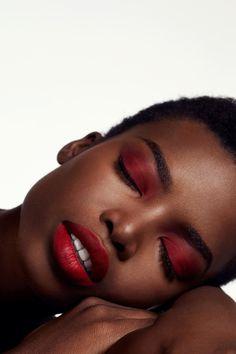 Black Girl Makeup, Red Makeup, Dark Skin Makeup, Girls Makeup, Eyeshadow Makeup, Natural Makeup, Beauty Makeup, Makeup Looks, Hair Makeup
