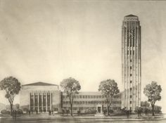 U of M Burton Tower - Albert Kahn