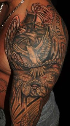 Christian-Religious-Half-Sleeve-Tattoo-Design-And-Meaning-For-Ideas-337x600.jpg (337×600)