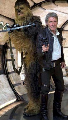 Han Solo and Chewbacca Star Wars Saga, Star Wars Han Solo, Star Wars Film, Han Solo And Chewbacca, Star Trek, Love Stars, Harrison Ford Han Solo, Starwars, Battlestar Galactica