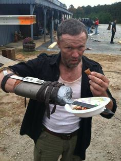 The Walking Dead - on the set