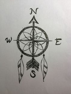 I've wanted a compass tattoo, and a dreamcatcher tattoo.this is perfect! Et Tattoo, Piercing Tattoo, Tiny Tattoo, Small Tattoos, Tattoo Quotes, Disney Tattoos, Tattoo Heaven, Tattoo Sketches, Art Sketches