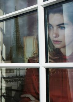 Jessica Hart by Eric Guillemain for Vogue Australia Fashion Photography Jessica Hart, Tour Eiffel, Cara Fresca, Looking Out The Window, Vogue Australia, Story Inspiration, Fashion Photography, Nostalgia, Ralph Lauren