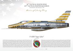 """UNITED STATES AIR FORCE48th Tactical Fighter Wing """"Statue of Liberty Wing"""". 493rd Tactical Fighter SquadronChaumont AFB, France 1959"""