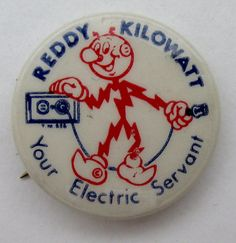 Reddy Kilowatt Your Electric Servant Pin