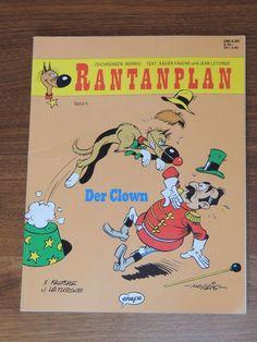 Rantanplan Band #4 Der Clown (Ehapa Verlag) Western Comics, Es Der Clown, Lucky Luke, Westerns, Comic Books, Band, Cover, Drawing S, Sash
