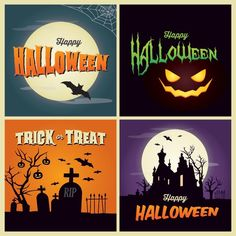 50 Free Vector halloween background and greeting card template - Free Vector Art
