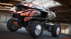 Scifi Truck by Josh   Transport   3D   CGSociety