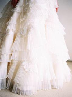Amazing layered dress: http://www.stylemepretty.com/2014/11/20/colorful-summer-wedding-at-the-villa-san-juan/   Photography: Ray Kang - http://raykang.com/