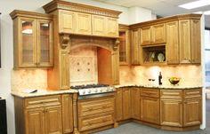 Glazed Toffee Kitchen Cabinets (Cinnamon Mocha Glazed)