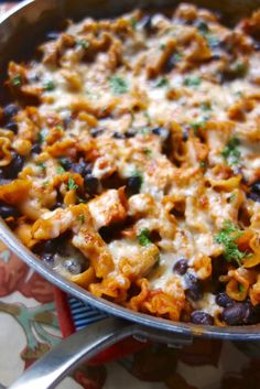 Spicy Chicken Enchilada Skillet recipeone pot, no boil. It doesnt get much easier than this!