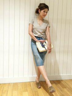 HIROさんの「ダメージタイトスカート◆(Deuxieme Classe)」を使ったコーディネート