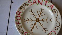 DIY Santa Cookie Plate {Craft}