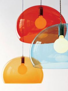 1960's inspired lamp with a Panton-like playfulness