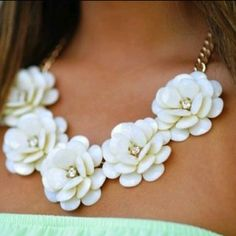 Flower necklace! I really like these if you didn't notice.