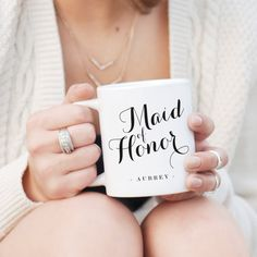 Maid of Honor Gifts - Use sign vinyl to create personalized Maid of Honor and bridesmaid gifts.