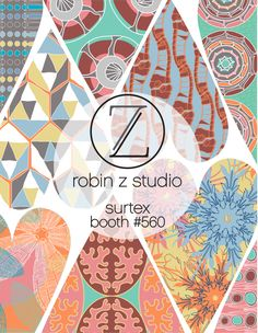 Robin Z Studio will be exhibiting at Surtex, Booth #560 in NYC, May 17 – 19, 2015