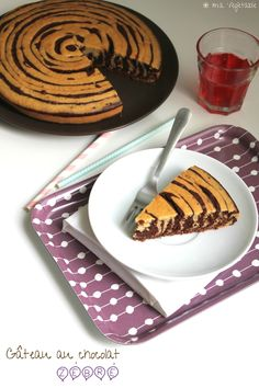 Gâteau au chocolat zébré - Ma Végétable