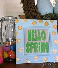 Hello Spring Sign Tutorial
